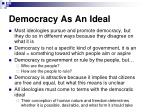 democracy as an ideal