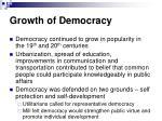 growth of democracy