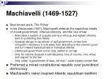 machiavelli 1469 1527