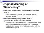 original meaning of democracy