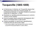 tocqueville 1805 1859