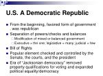 u s a democratic republic