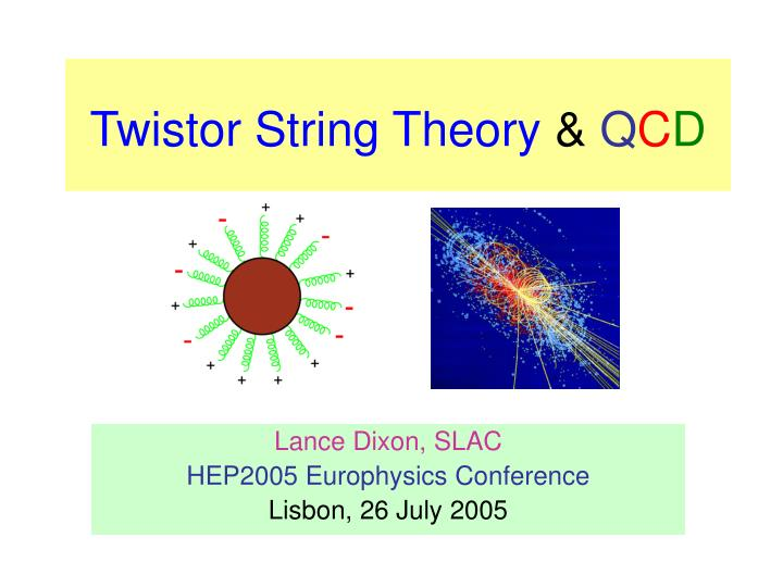 string theory and q c d n.