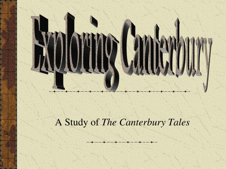 a study of the canterbury tales n.