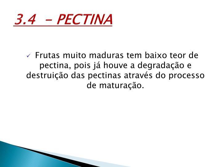 3.4  - PECTINA