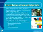 co production of heat and electricity