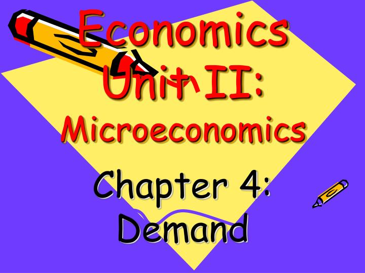 economics unit ii microeconomics n.