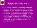 responsibilities cont