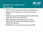 agreements regional and international