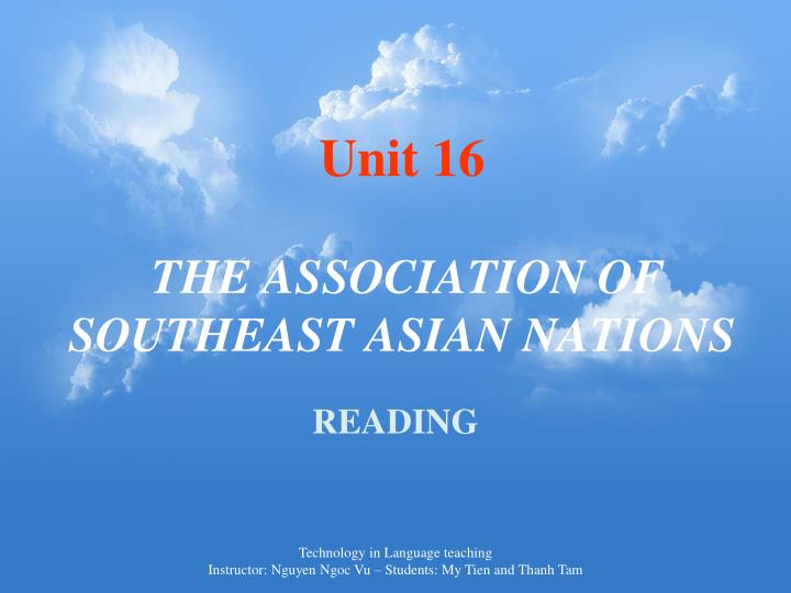 unit 16 the association of southeast asian nations n.