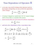 time dependence of operators ii