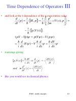 time dependence of operators iii