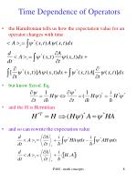 time dependence of operators