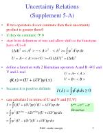 uncertainty relations supplement 5 a