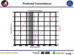 predicted transmittance
