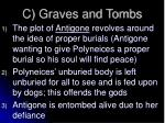 c graves and tombs