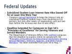 federal updates