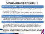 general academic institutions 1