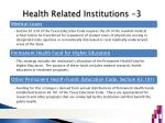 health related institutions 3