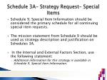 schedule 3a strategy request special items