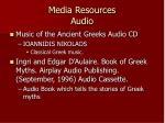 media resources audio