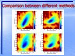comparison between different methods