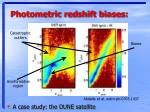 photometric redshift biases