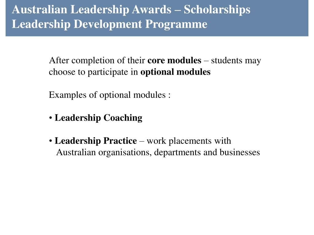 Australian Leadership Awards – Scholarships
