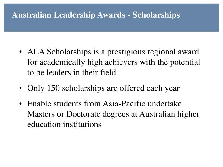 Australian Leadership Awards - Scholarships
