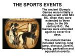the sports events