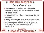 drug conviction