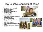 how to solve conflicts at home