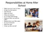 responsibilities at home after school
