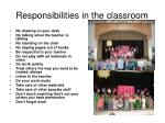 responsibilities in the classroom