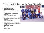 responsibilities with boy scouts