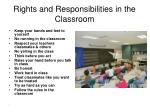 rights and responsibilities in the classroom