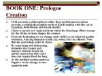 book one prologue creation
