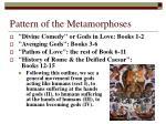pattern of the metamorphoses