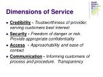 dimensions of service1