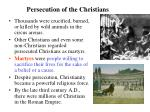 persecution of the christians1