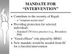mandate for intervention