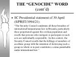 the genocide word cont d1