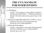 the un s mandate for intervention