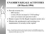 unamir s kigali activities 30 march 1994