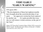 very early early warning