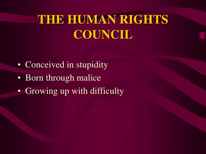 The human rights council