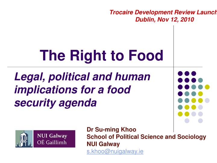 the right to food n.