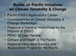 builds on pacific initiatives on climate variability change