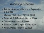 workshop schedule