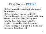 first steps define